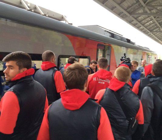 """Футболисты """"Локомотива"""" отправились на стадион по МЦК"""
