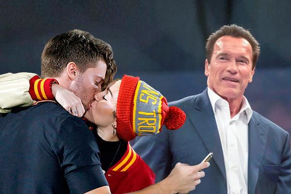 Сын Арнольда Шварценеггера встречается со скандально известной Майли Сайрус