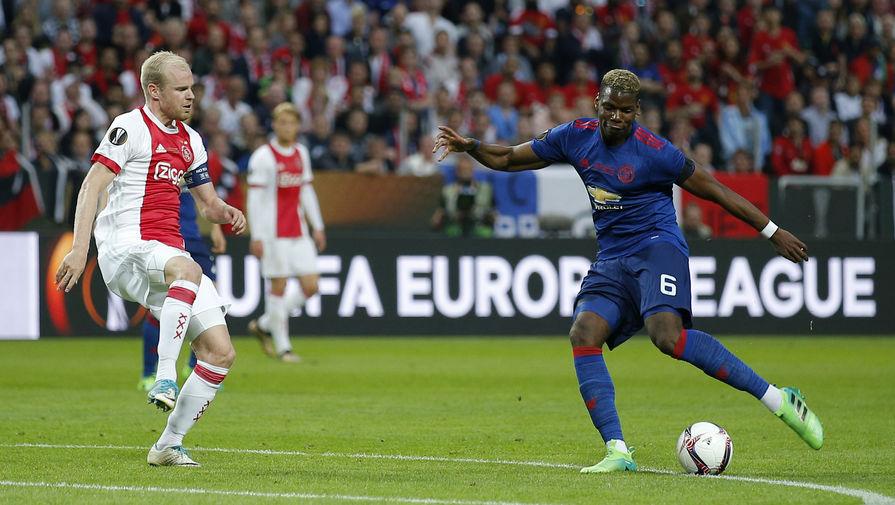 Поль Погба открыл счет в финале Лиги Европы Фото: Reuters (gazeta.ru)