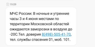 МЧС информирует о заморозках 3 и 4 июня до -20 С