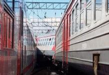 Железнодорожная авария в центре Москвы в районе Курского вокзала