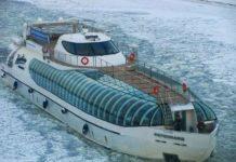 зимний туризм по водным путям в Москве